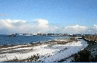 St Ouen's Bay in Snow by Mick Dryden